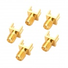 DIY Gold Plating 4-Pin SMA Plug Connectors - Golden (5 PCS)