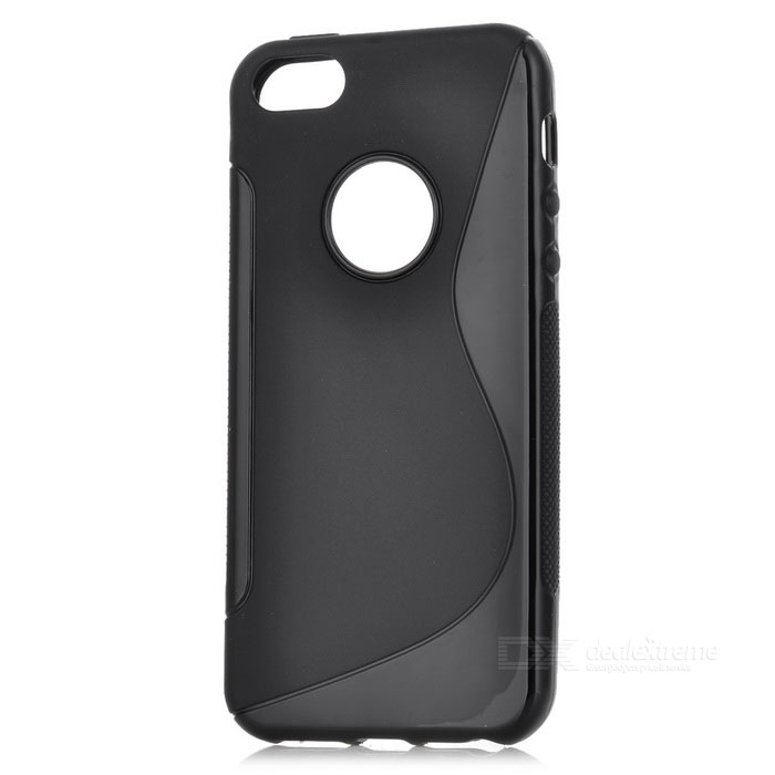 Stylish Protective Silicone Back Case for Iphone 5 - Black stylish protective silicone back case for iphone 5 black