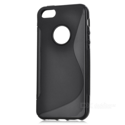 Stylish Protective Silicone Back Case for Iphone 5 - Black