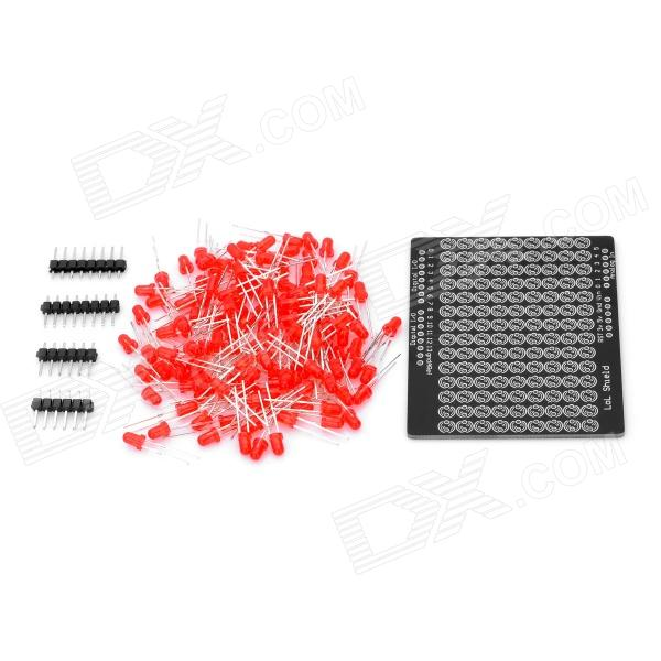 LOL Shield Charlieplexed LED Kit Luz Vermelha Matrix para Arduino (Funciona com Placas Arduino Oficial)