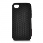 Creative Sole Style Protective Silicone Back Case for iPhone 4 / 4S - Black