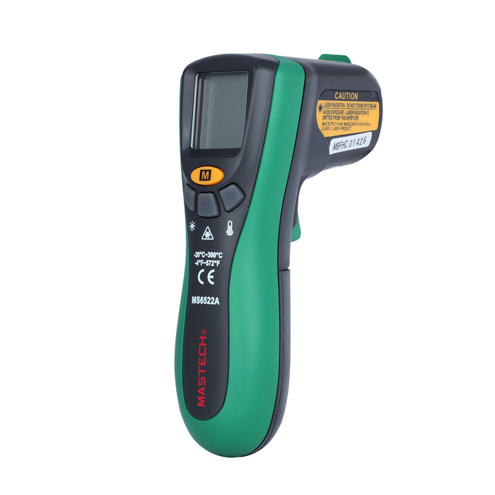 "Mastech 1.5"" LCD Digital Infrared Thermometer - Green"