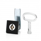 Zinc Alloy + Plastic Lock Key Set for Filing Cabinet + More - Black + Silver