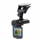 2'' TFT LCD 5.0MP Wide Angle CMOS Car DVR Camcorder w/ 8-IR Night Version / G-Sensor / SOS - Black