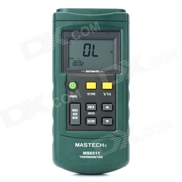 "Mastech MS6511 2.4"" LCD Digital Thermometer - Grey + Green (1 x 9V/6F22)"