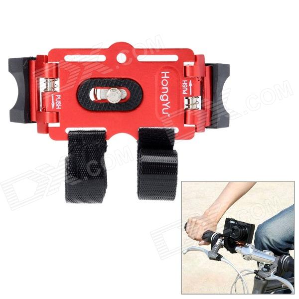 Bicycle Bike Aluminum Alloy Mount Holder for Digital Camera / Mini DV - Red bicycle bike plastic mount holder for digital camera mini dv orange black