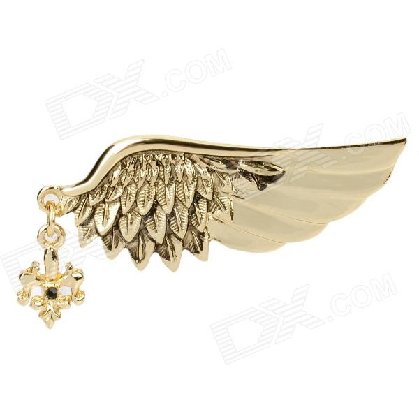 Elegant Angel Wings Style Zinc Alloy Woman's Brooch - Golden