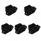 DIY 3-Pin 10A / 250V Power Socket Outlet - Black (5 PCS)