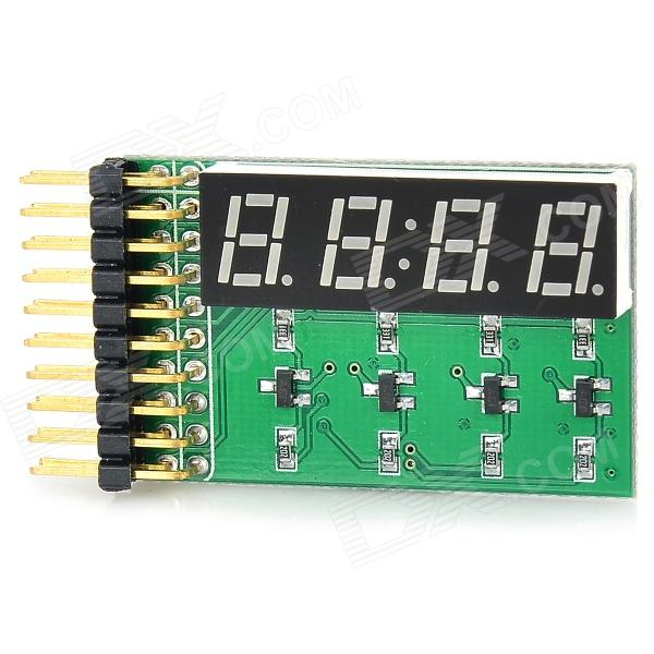 4-Digit 8-Segment LED Display Board Module - Blue lson 0 4 8 digit 7 segment digital display module deep blue 5v