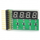 4-Digit 8-Segment LED Display Board Module - Blue