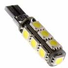 Can-bus T10 2.2W 13-5050 SMD LED White Light Car Decoration Light (12V)