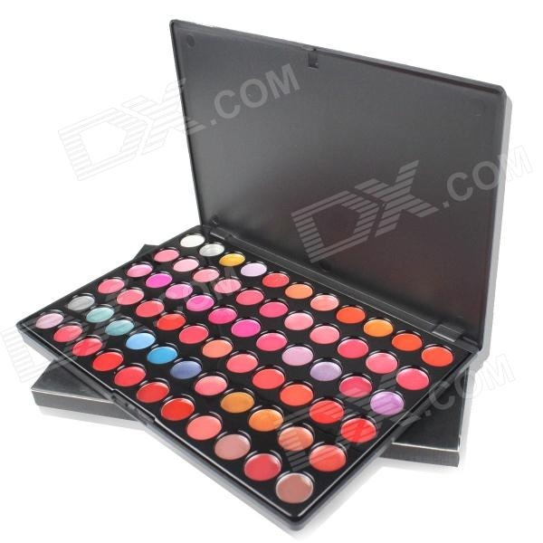 Portable Professional 66-Color Cosmetic Makeup Lipstick Palette - Multicolored