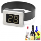 "1.2"" LCD 2-Digit Clip-on Red Wine Digital Thermometer - Black (2 x LR44)"