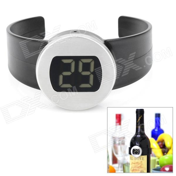 1.0 LCD Clip-on Red Wine Digital Thermometer - Black center303 dual display digital thermometer measurement range 200c 1370c