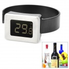 "1.2"" LCD 4-Digit Clip-on Red Wine Digital Thermometer - Black (2 x LR44)"
