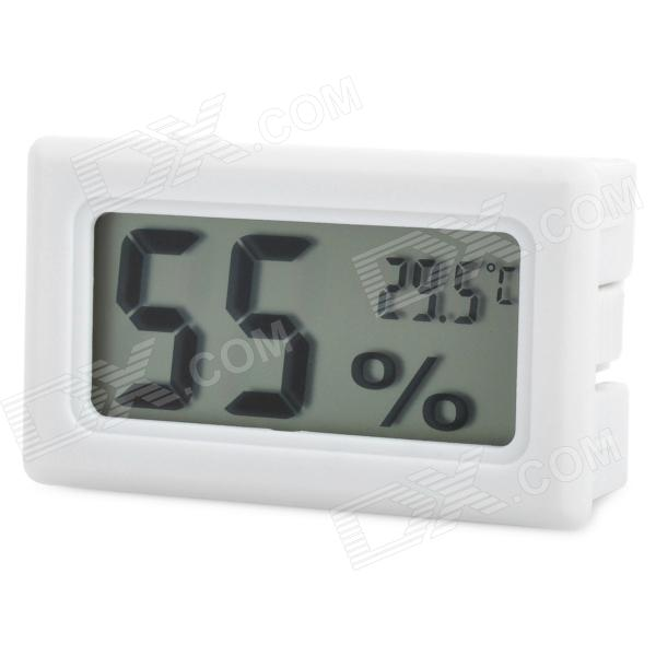 Mini 1.5 LCD Temperature & Humidity Meter - White (2 x LR44) indoor air quality pm2 5 monitor meter temperature rh humidity