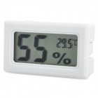 "Mini 1.5"" LCD Temperature & Humidity Meter - White (2 x LR44)"