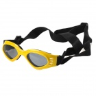BGS-PET11 Fashion Outdoor Pet Dog Goggles UV Protection Sunglasses - Yellow