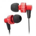 ES900I Stilvolle 3.5mm Stereo-In-Ear-Ohrhörer w / Mikrofon - Red + Black