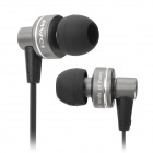 ES900I Stylish 3.5mm Stereo In-Ear Earphone w/ Microphone - Black + Grey
