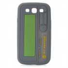 Pager Style Protective Silicone Back Case for Samsung Galaxy S III - Grey