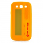 Pager Style Protective Silicone Back Case for Samsung Galaxy S III - Yellow