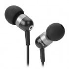 Q8i Stilvolle 3,5 mm Stereo-In-Ear-Ohrhörer w / Mikrofon für iPhone / iPad / iPod - Schwarz