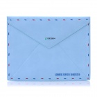 Vintage Envelope Style Protective PU Leather Case for Ipad 2 / The New Ipad - Blue