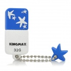 Genuine KINGMAX USB 2.0 Flash Drive w / Chain - White + Blue (32GB)