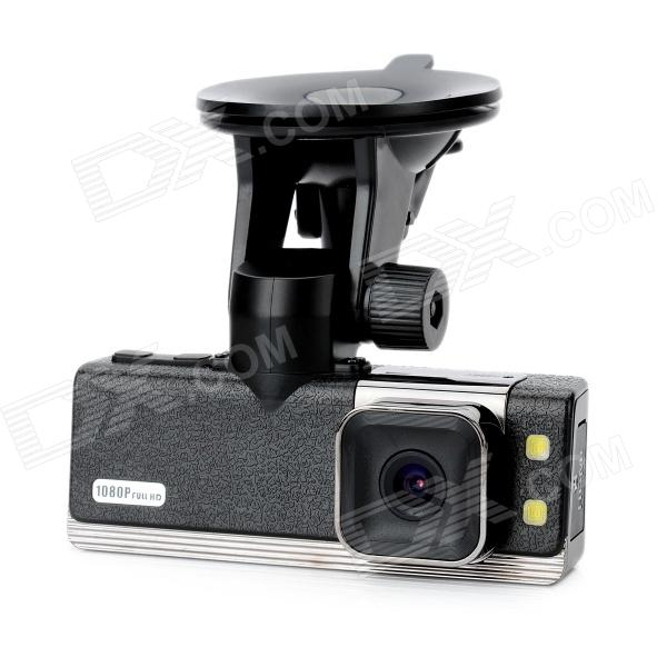 HD 1080P 1.5'' TFT 5.0MP CMOS Wide Angle Car DVR Camcorder w/ GPS / G-Sensor / 2-LED Night Vision blackview bl500 2 7 tft full hd 1080p 5 0mp cmos car dvr w gps ir 178 angle lens g sensor