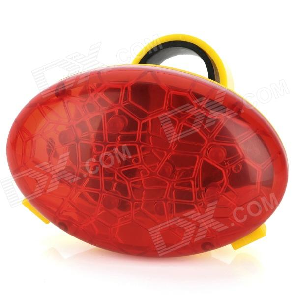Cohesive 10-LED 3-Mode Red Safety Bike Tail Light w/ 2-Red Laser Beam (2 x AAA) 001 bicycle bike 7 mode 5 led red light tail warning safety light red black 2 x aa