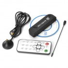 DVB-T Digital TV Receiver USB Dongle w/ FM / Remote Control / Antenna - Black