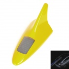 Solar Powered Shark Fin Style Safety Alarm LED Flash Anti Rear-End Warning Light - Yellow