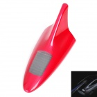 Solar Powered Shark Fin Style Safety Alarm LED Flash Anti Rear-End Warning Light - Red