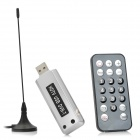 DVB-T Digital TV Receiver USB Dongle w / Remote Controller / Antenne - Silber