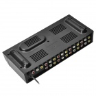HUIYISHUN YS-800 8-Нагрузки Audio Video Splitter AMP - черный (AC 220V / США Plug)