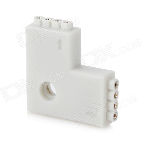 Adaptador de conector DIY 4-Pin L-Shaped Soldadura Gratis para luz de tira flexible del LED