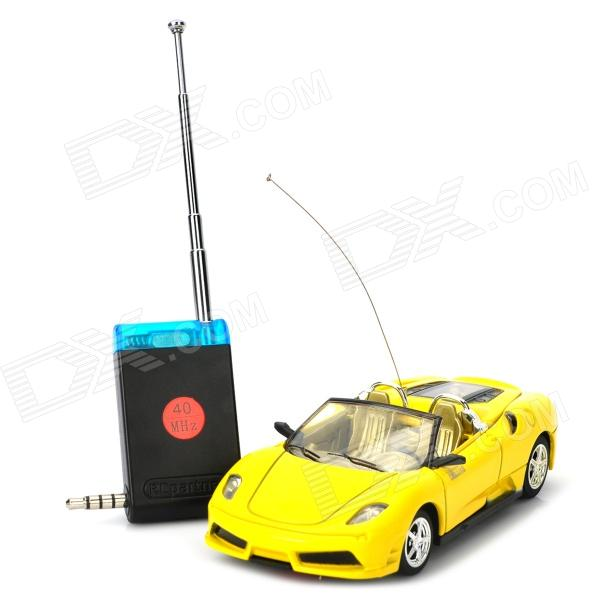 Android 2.2 / iOS4.0 Cell Phone Controlled 2-CH Rechargeable R/C Racing Car - Yellow