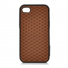 Fashion Protective Silicone Back Case for iPhone 4 / 4S - Brown + Black