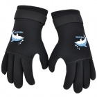 Sports Anti-Slip Neoprene Waterproof Diving Gloves - Black (Size S / 2 PCS)