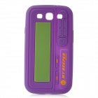 Pager Style Protective Silicone Back Case for Samsung Galaxy S III - Purple