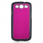 Protective PC Back Case w/ Aluminum Cover for Samsung Galaxy S III / i9300 - Deep Pink