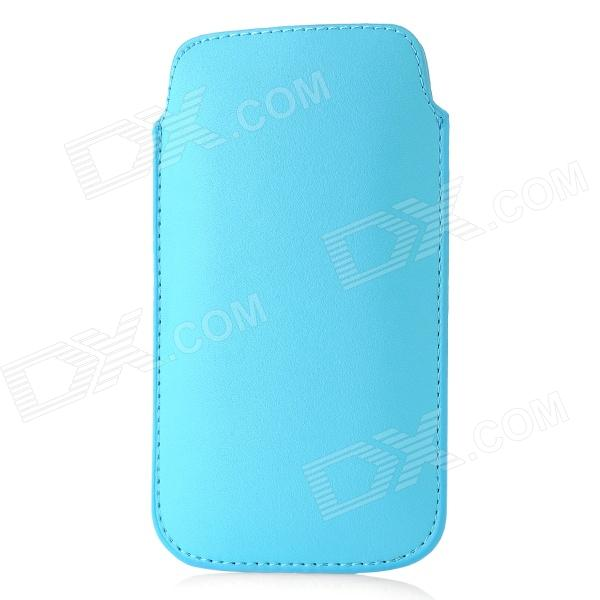 Protective Artificial Leather Case Pouch Bag for Samsung Galaxy S III / i9300 - Blue