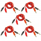 4mm Banana Plug to Alligator Clip Probe Cable Test Lead - Red + Black (100cm / 10 PCS)