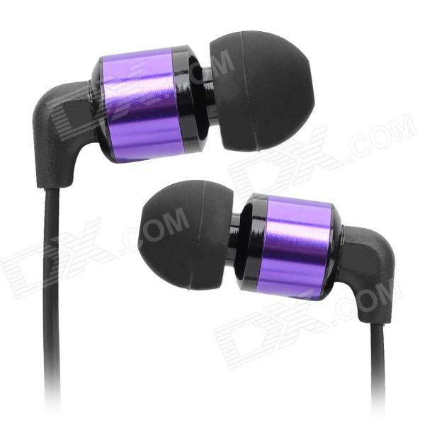 Awei Stylish In-Ear Earphone for Cell Phone / MP3 / MP4 - Purple + Black