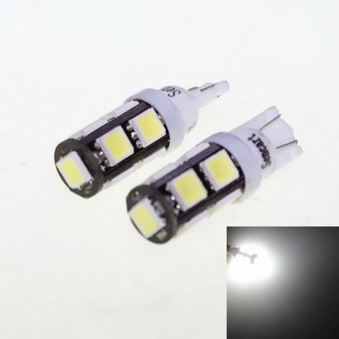 T10 4.5W 9-5060 SMD LED White Light Car Reading Lamps (DC 12V / 2 PCS) dimming style relay 12v led car drl daytime running lights with fog lamp hole for mazda 3 axela 2014 2015
