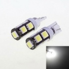 T10 4.5W 9-5060 SMD LED White Light Car Reading Lamps (DC 12V / 2 PCS)