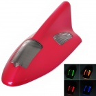 Solar Powered Shark Fin Style Safety Alarm LED / Anti-Rear-End Caution Light - Red