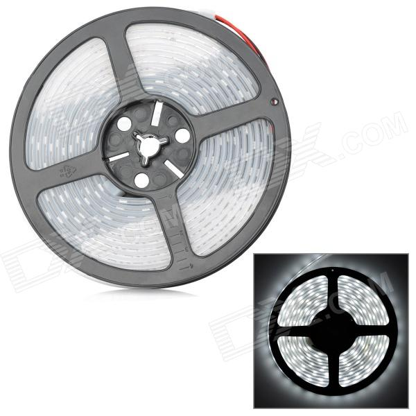 72W 4200lm 300-5050 SMD LED White Light Flexible Strip w/ Waterproof Silicone Sleeve (DC 12V / 5m) zdm waterproof 72w 200lm 470nm 300 smd 5050 led blue light strip white grey dc 12v 5m