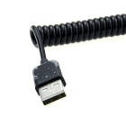 USB Male to Mini USB Male Flexible Data Cable - Black